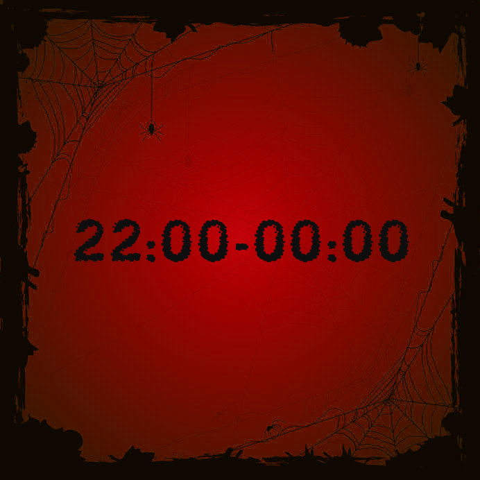 22:00 - 00:00 (leeftijd 13+)