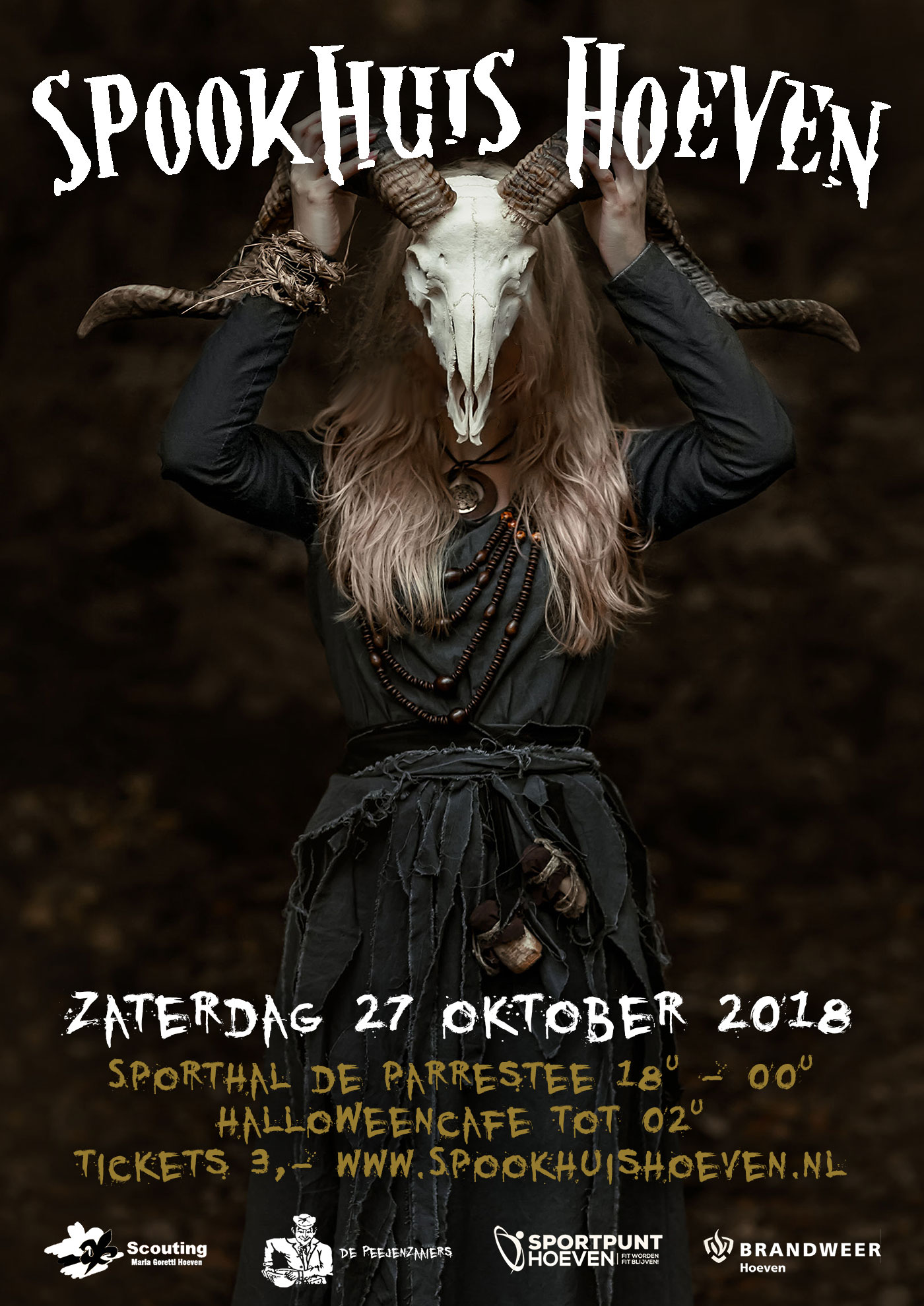 Poster Spookhuis Hoeven 2018